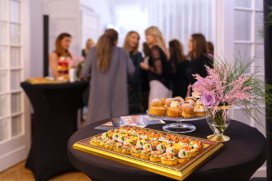 Fancy food in a corporate event